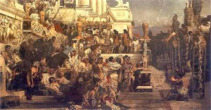 Henryk Siemiradzki. Leading Light of Christianity. Nero's Torches. 1876. Oil on canvas.National Museum, Krakow, Poland.