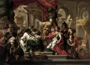 Alexander in the Temple