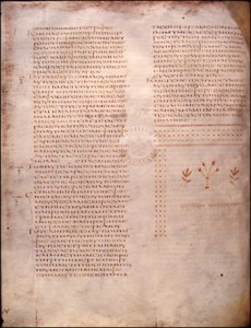 Codex Alexandrinus - End of Luke's Gospel